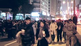 Night photography vacation People in Taipei stock footage
