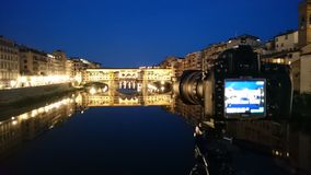 Night photos with Ponte Vecchio Firenze, Italia Royalty Free Stock Photo