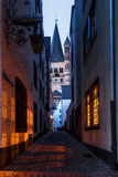 Night picture of the old town in Cologne Stock Images