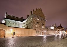 Night Picture of the Swarzenberger palace in Prague by the prague castle. Stock Photography