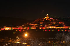Night picture of Veliko Tarnovo, Tsarevets Royalty Free Stock Image