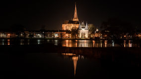 Night Pictures of the historical city Kampen, Overijssel, Nether Stock Photos