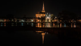Night Pictures of the historical city Kampen, Overijssel, Nether Stock Images