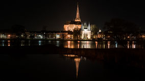 Night Pictures of the historical city Kampen, Overijssel, Nether Royalty Free Stock Images