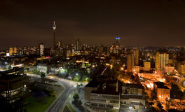 The night piece of city in Johannesburg