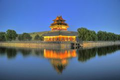Night piece of forbidden city Royalty Free Stock Photos