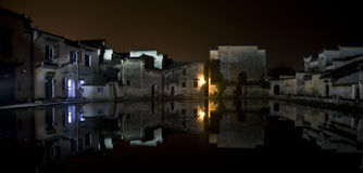 Night piece of the village Royalty Free Stock Images