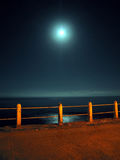 Night pier. Portrait image of coastal pier at night royalty free stock photo