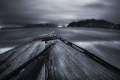 Night pier of Phi Phi Stock Photo