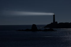 Night at The Pigeon Point Lighthouse in California Royalty Free Stock Photos