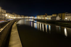 Night Pisa Stock Photo