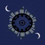 Night planet under stars. Royalty Free Stock Photos