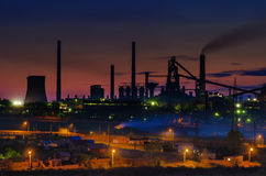 Night of plant industry Stock Photography