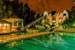 Night playground Stock Images