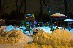 Night playground in the park Royalty Free Stock Images
