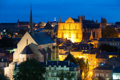 Night Poitiers Royalty Free Stock Images