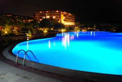 Night pool Royalty Free Stock Photo