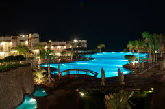 Night pool Royalty Free Stock Image