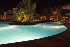 Night pool Royalty Free Stock Images