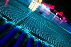 Night pool. Wonderful Resort swimming pool at night stock images