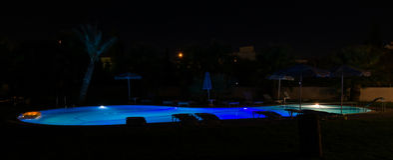 Night pool Stock Photos