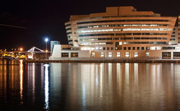 Night port in a big city Stock Photography