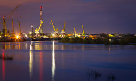 Night port Stock Photography