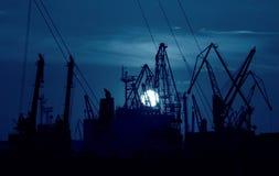 Night port Royalty Free Stock Photography