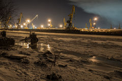 Night port. royalty free stock images