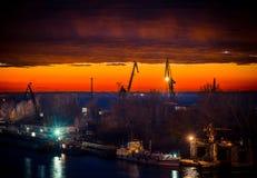 Night port work Royalty Free Stock Photos
