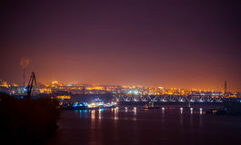 Night port work Stock Image