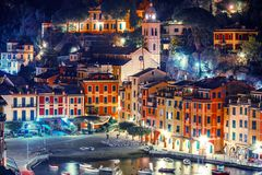 Night in the Portofino Italy Royalty Free Stock Images