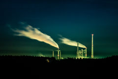 Night power station Royalty Free Stock Photo