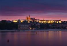 Night Prague Stock Photos