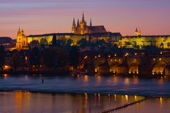 Night Prague Royalty Free Stock Photo