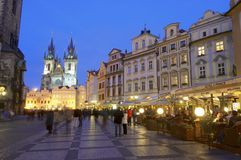 Night Prague Stock Photo