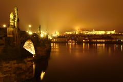 Night Prague Stock Photography