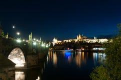 night prague Στοκ Φωτογραφίες