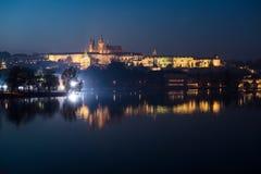 Night Prague. Prague castle, night,  Czech Republic Royalty Free Stock Photography
