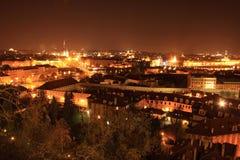 Night  Prague City, Czech Republic Stock Photography