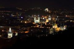 Night  Prague City, Czech Republic Stock Photo