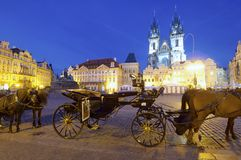 Night Prague Stock Image