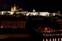 Night Prague gothic Castle with Charles Bridge, Czech Republic. Night Prague gothic Castle with Charles Bridge Royalty Free Stock Image