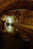 Night Prague - Kampa Royalty Free Stock Photography