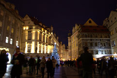 Night Prague Old Town square Stock Images