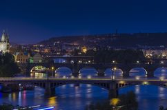 Night prague Royalty Free Stock Photography