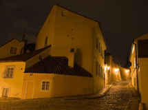 Night Prague scenery Stock Photos