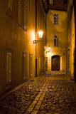 Night Prague scenery Stock Photography