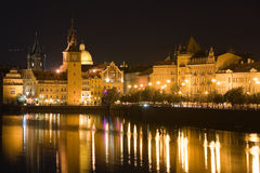 Night Prague scenery Royalty Free Stock Photography