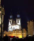 Night Prague square people Stock Image